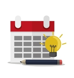 Calendar of office and work design vector