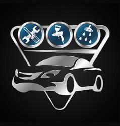 Car repair and maintenance vector