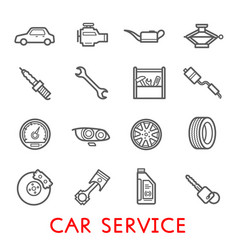 Car service station and auto repair garage icon vector