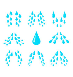 cartoon tears cry water and sweat drops vector image