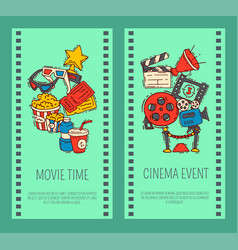 cinema event poster flyer media production vector image