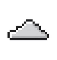 Cloud pixel art cartoon retro game style vector