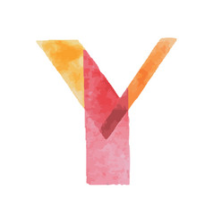 Colorful watercolor aquarelle font type vector