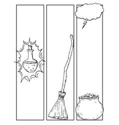 Comics blank layout template halloween background vector