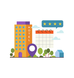 concept online booking vector image