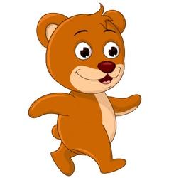 cute Bear cartoon walking vector image