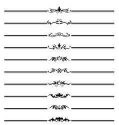 Deco borders black and white pattern vector