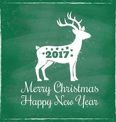 Deer chalk 2017 green vector