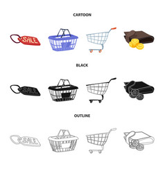 Design of food and drink icon set of food vector