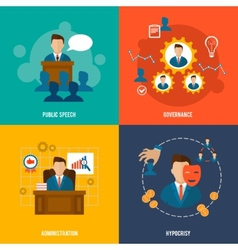 Executive icons flat vector image