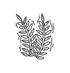 farming wheat icon hand drawn icon set outline vector image