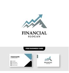 Finance arrow growth logo design and business vector