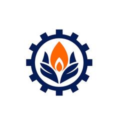 fire energy power logo concept icon vector image