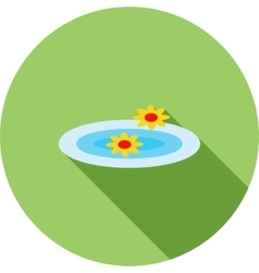 Floating Flowers vector image