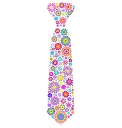 Floral tie on white background vector