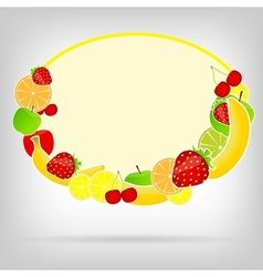 Frame with fresh fruits vector image