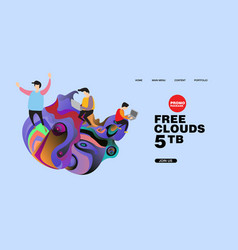 Free clouds storage promotion for banner and vector