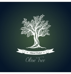 Fruit food plant or olive oil tree logo vector