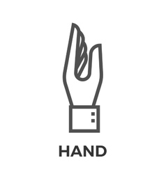 Hand thin line icon vector image