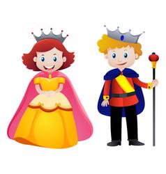 Happy king and queen vector