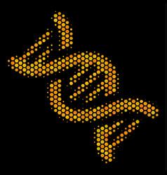 Hexagon halftone dna spiral icon vector