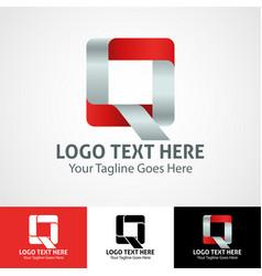 Hi-tech trendy initial icon logo q vector