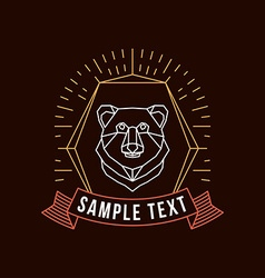 hipster vintage label logotype insignia badge vector image
