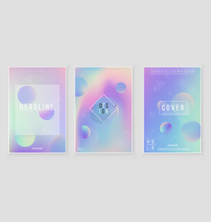 holographic paper magic foil marble cover vector image