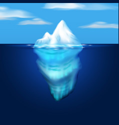 iceberg block of ice in the sea vector image