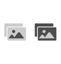 Image silhouette icon in black and white picture vector
