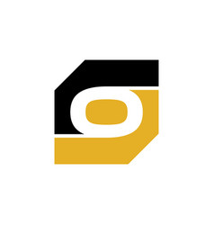 initial o rectangle logo template vector image