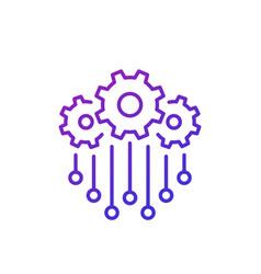 Integration line icon design vector