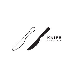 knife graphic design template vector image