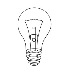 Light bulb line icon isolated vector