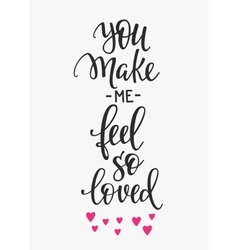 Love Valentines Day quote typography vector image