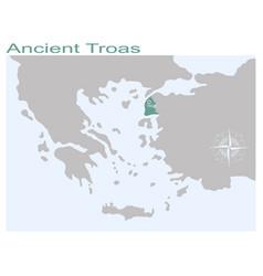 Map ancient troas vector