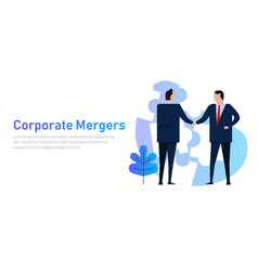 Mergers corporate and acquisitions two company vector
