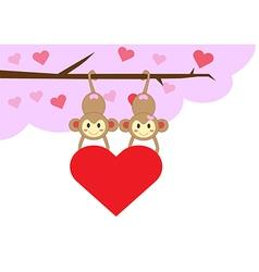 monkeyinlove2 vector image