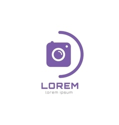 Photo camera logo icon template Photographer logo vector