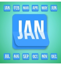 Realistic Calendar Icon made in Trendy Flat vector image