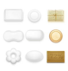 Realistic soap bars vector