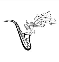 Saxophone sketch vector image