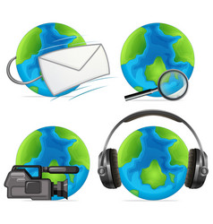 set object on earth vector image