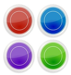 Set of blank circle label vector