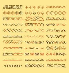 Set of hand drawn dividers vector