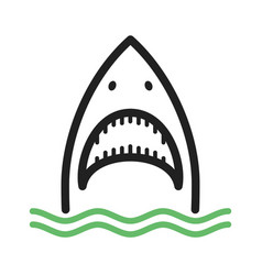 Shark face vector