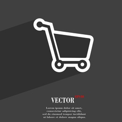 Shopping cart icon symbol Flat modern web design vector image