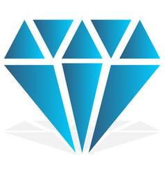 simple diamond jewelry sign symbol precious stone vector image