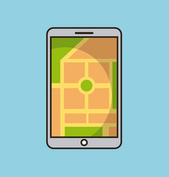 smartphone gps map navigation application web vector image