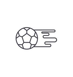 soccer ball line icon concept soccer ball vector image